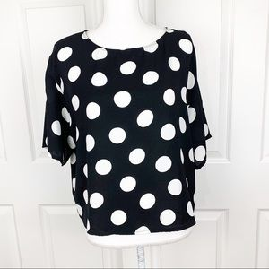 Mango MNG Casual Wear Polka Dot Blouse